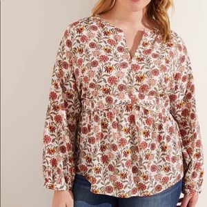 LOFT Floral Long Sleeve Pullover Blouse 16